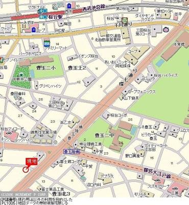 【地図】ガーラ桜台