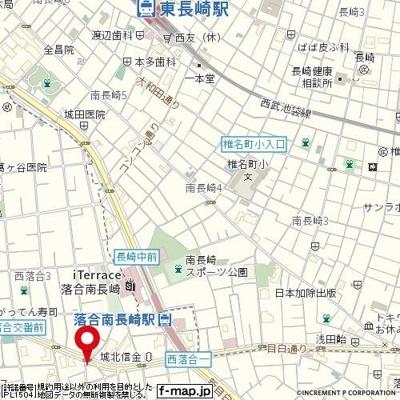 【地図】フラットMONA