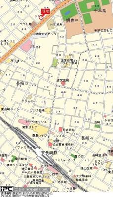 【地図】ライオンズマンション東長崎第参