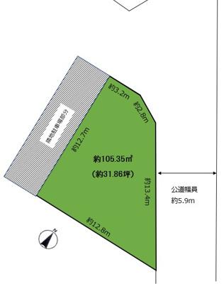 【区画図】上甲子園1丁目 売土地