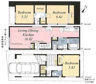 豊富な収納スペースを設置したお住まいです。