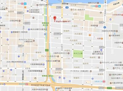 【地図】サムティ北浜EST