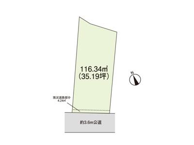 【区画図】下貝塚一丁目住宅用地