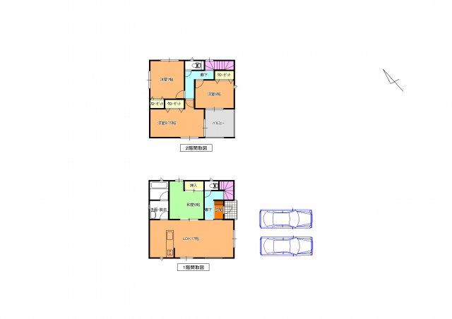 1号棟 全居室6帖以上の広さの4LDKです。