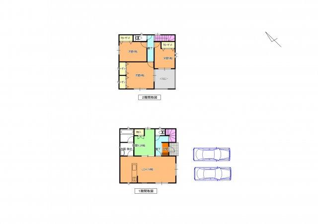 2号棟 主寝室が8帖の広さの4LDKです。