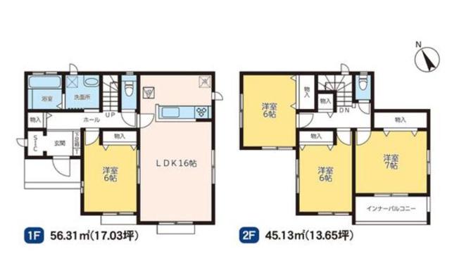 D号棟 4LDK 玄関から直接出入りできる洋室は急な来客にも対応できます。