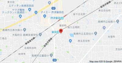 【地図】アップルハイツ富田 (株)Roots