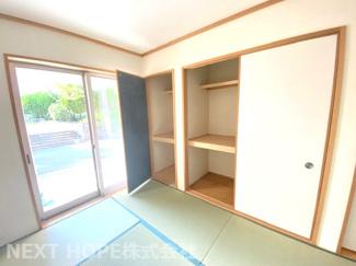 1階和室6帖の押入れです♪たくさんの収納ができます!室内を優子に使用していただけます♪