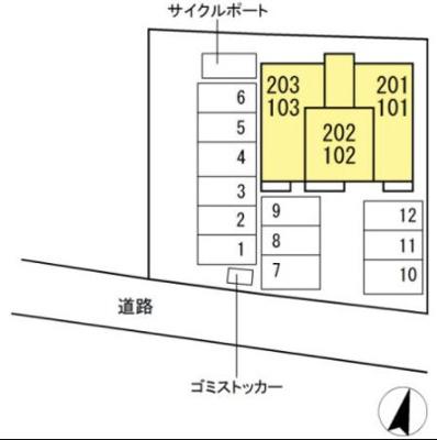 【区画図】サニーハイツ