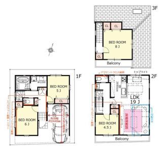 A号棟:2階LDKは広々19帖、最新設備・仕様充実のプラン
