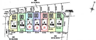 【区画図】鴻巣市原馬室 新築一戸建て全7棟
