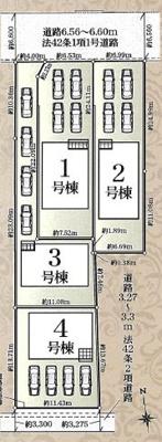 【区画図】浜松市西区篠原町 6期 新築一戸建て 2号棟 AN