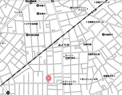 【地図】みどり市笠懸町久宮土地