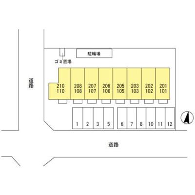 【区画図】ウィルモアK・Ⅱ