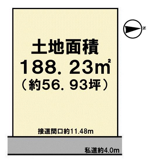 【土地図】厚木市寿町売地