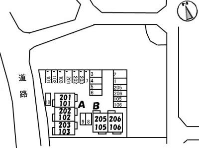 【区画図】メゾン・ラ・パヴィエ B棟
