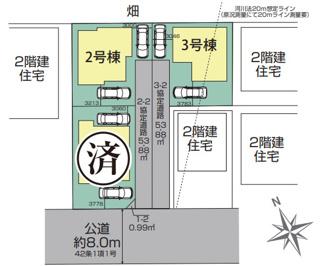 【区画図】三郷市 早稲田3丁目 2期