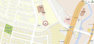 【地図】松が枝町2丁目 店舗併用住宅