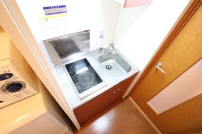 お掃除ラクラクの2口ラジエントヒーターを採用。