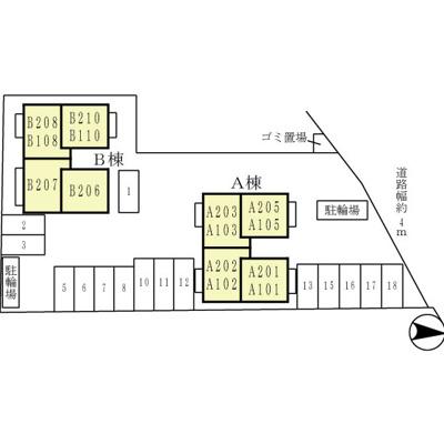 【区画図】ハピネス・フューチャー A棟