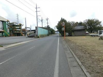 【前面道路含む現地写真】米子市古豊千 売地1