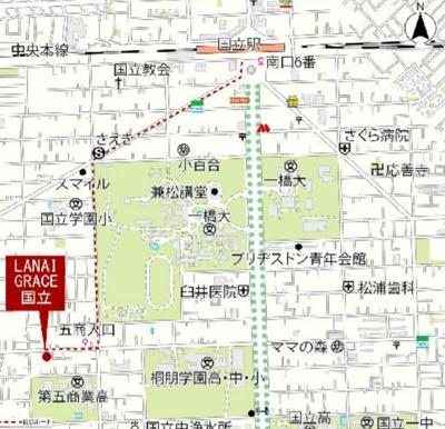 【地図】LANAI GRACE KUNITACHI