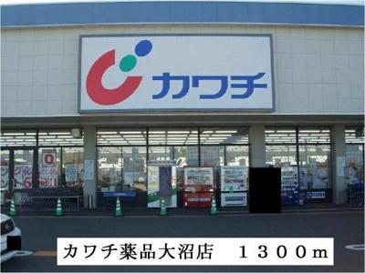 カワチ薬品大沼店まで1300m