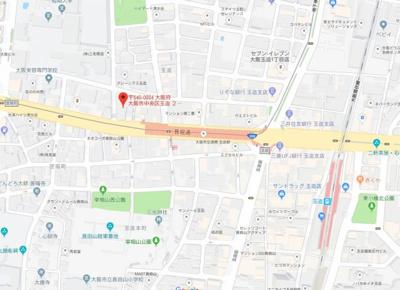 【地図】ドゥーエ玉造(旧プライムアーバン玉造)