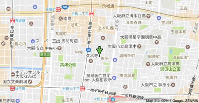 【地図】SERENITE上町台