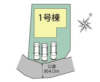【区画図】御殿場市西田中 新築戸建 全1棟 (1号棟)