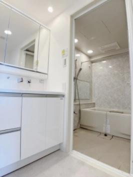 シーズガーデン瑞江の独立洗面台です。