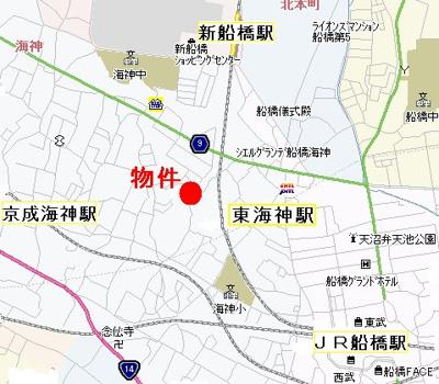 【地図】クレール東海神