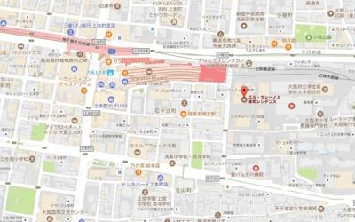【地図】エルセレーノ上本町レジデンス