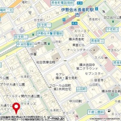 【地図】タウンハーズA