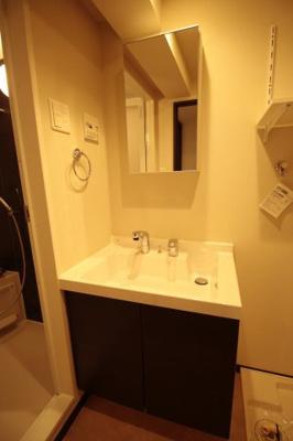 シャワー付き独立洗面台です!