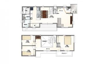 ・参考プラン価格:1910万(別途外構費140万)     ・建物価格は参考価格になります。 (弊社標準建物28坪で計算した価格です)       ・参考プラン延床面積:93.65㎡