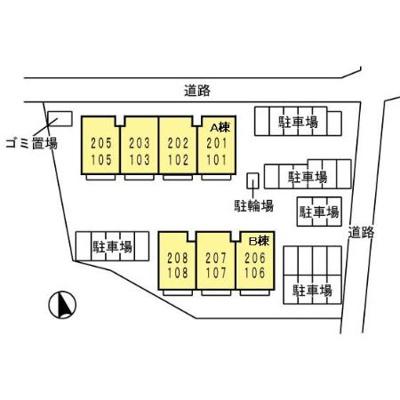 【区画図】ラ・マーシャA棟