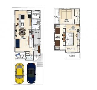 ・参考プラン価格:1910万(別途外構費130万)     ・建物価格は参考価格になります。 (弊社標準建物28坪で計算した価格です)       ・参考プラン延床面積:92.88㎡