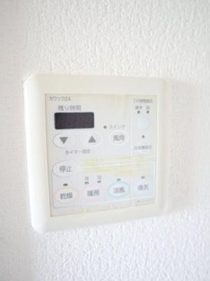 浴室乾燥暖房機能付きです!!