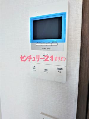 TVモニタ付オートロックの室内モニタです