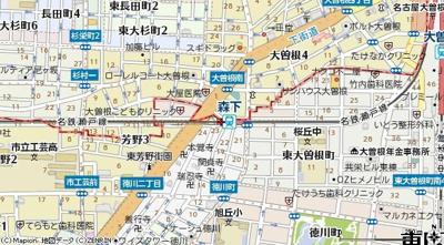 【地図】b'CASA Eminent Morishita