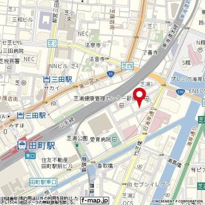 【地図】エスコート芝浦