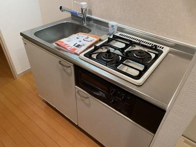 システムキッチン(2口ガスコンロ・グリル付)