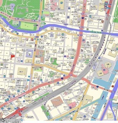 【地図】シンシア三田慶大前