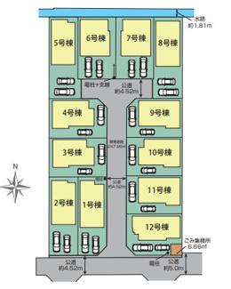 【区画図】平塚市山下 新築戸建 全12棟1号棟