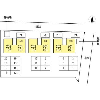 【区画図】カーサクレール B棟