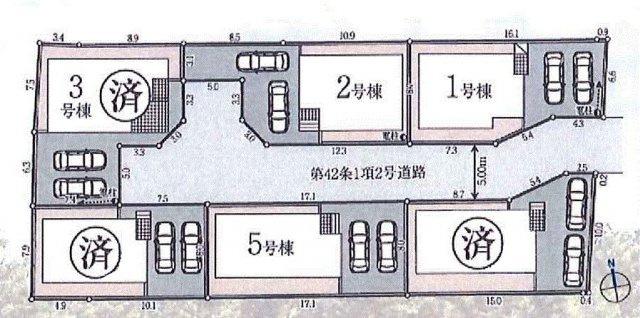 【区画図】あきる野市草花 新築戸建全6棟
