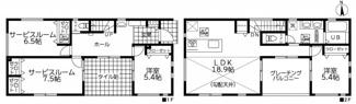 【間取り】茅ヶ崎市松浪2丁目 新築戸建 全3棟3号棟