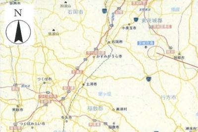 【地図】行方市芹沢 工業専用地域 売地