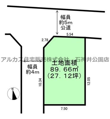 【区画図】練馬区南大泉2丁目 新築一戸建 西武新宿線 武蔵関